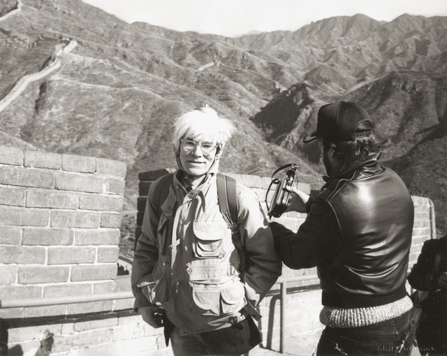 Andy Warhol, 'Andy Warhol at the Great Wall', 1982, Photography, Gelatin silver print, Phillips