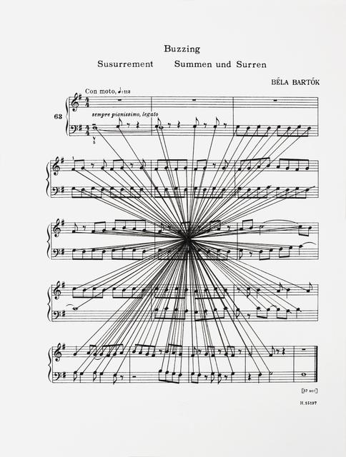 , 'Mass Black Implosion (Mikrokosmos: Buzzing, Bela Bartok),' 2012, Anna Schwartz Gallery