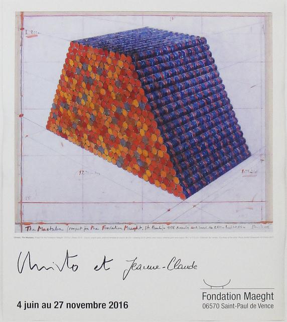 Christo and Jeanne-Claude, 'Le Mastaba - Exposition Fondation Maeght', 2016, La Maison de la Petite Sara