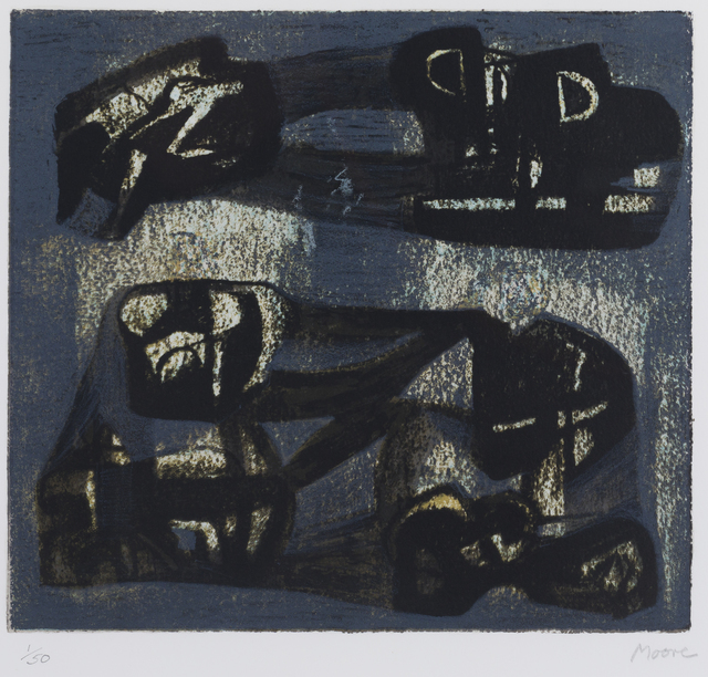 Henry Moore, 'Ideas for Metal Sculpture VI', 1981, Print, Lithograph, Childs Gallery