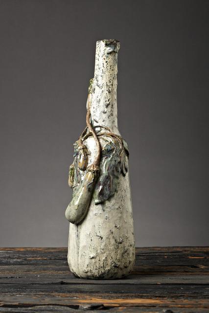 Henri-Leon-Charles Robalbhen, 'Eggplant Bottle Form Vase', C.1900, Jason Jacques Gallery
