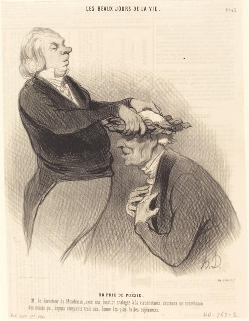 Honoré Daumier, 'Un Prix de poésie', 1845, National Gallery of Art, Washington, D.C.