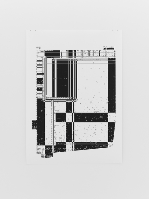 , 'Untitled (Select_CV Floor Plan of Kunsthalle Zurich; black and white),' 2017, Michel Rein Paris/Brussels