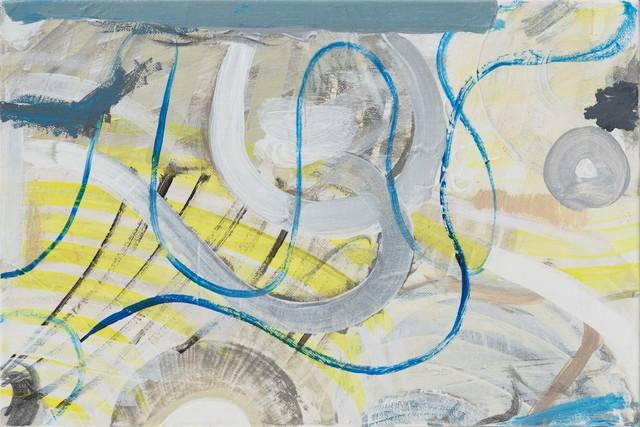 , ' Draw Blue Line,' 2016, Aye Gallery