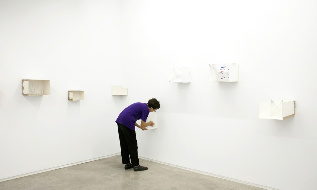 Esther Ferrer, exhibition view at àngels barcelona (solo show), 2012