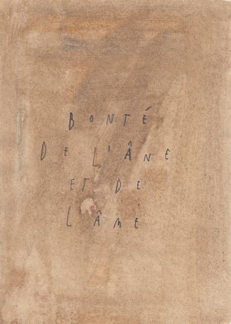 , 'Bonté de l'âne et de l'âme,' 2016, GALLERY FIFTY ONE