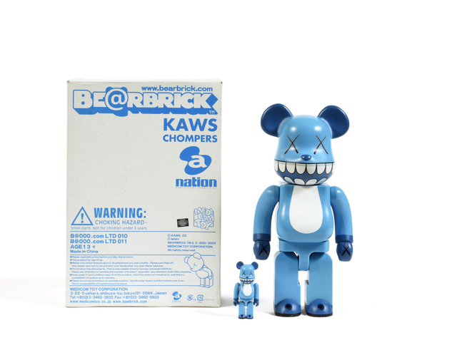 KAWS, 'Chomper Bearbrick 100% & 400%', 2003, Sculpture, Painted cast vinyl, DIGARD AUCTION