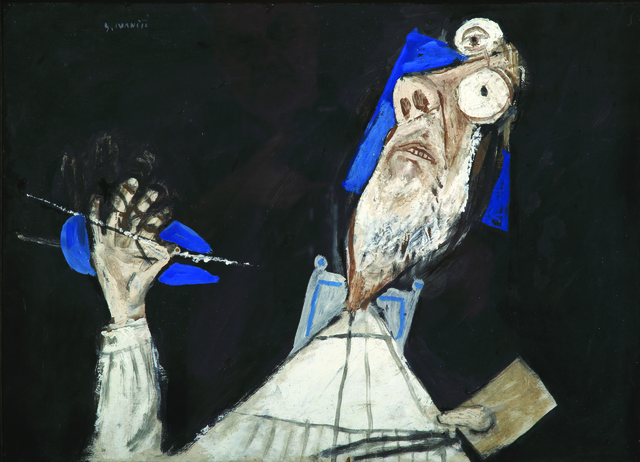 , 'Self-portrait with Brush and Palette,' 1992, Museum of Modern Art Dubrovnik