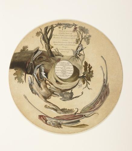 , 'Cylinder Anamorphosis: Pan Lures Luna (Diana) into Arcadia,' ca. 1753, Helmut H. Rumbler Kunsthandel