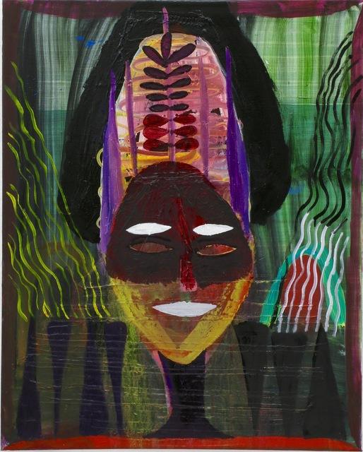 , 'Untitled (maskenartiges Gesicht und andere komische Sachen),' 2015, Waldburger Wouters