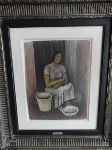 ", '""Vendedora de ceramica"",' ca. 1950, GALERÍAS A. CRISTOBAL"