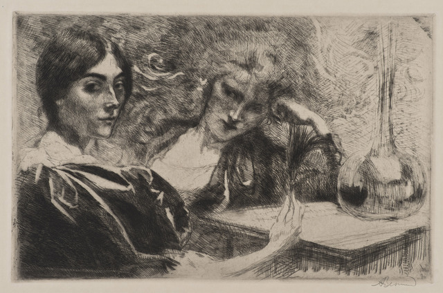 , 'Morphinomanes ou Le Plumet [Morphine Addicts or The Plume],' 1887, Hammer Museum