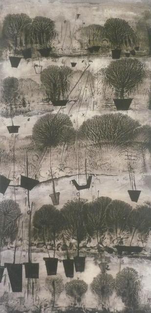 Manu vb Tintoré, 'Ancores de la terra 2', 2011, Painting, Water black pigment on wood, N2 Galería