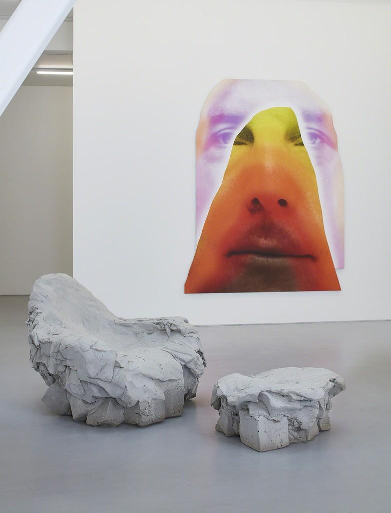 "Installation view, Urs Fischer, ""Mind Moves."" © Urs Fischer. Courtesy of the artist and Gagosian. Photo by Johnna Arnold."