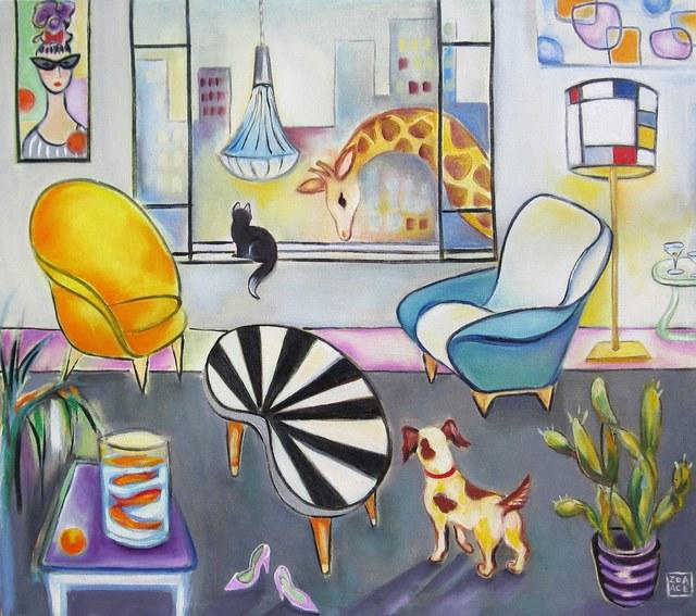 Zoa Ace, 'Interior with Giraffe', 2015, Abend Gallery