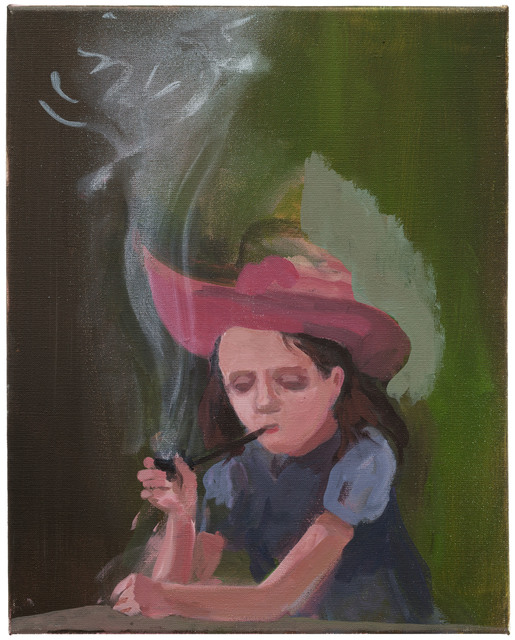 , 'Girl with Pipe,' 2017, Galerie Kleindienst