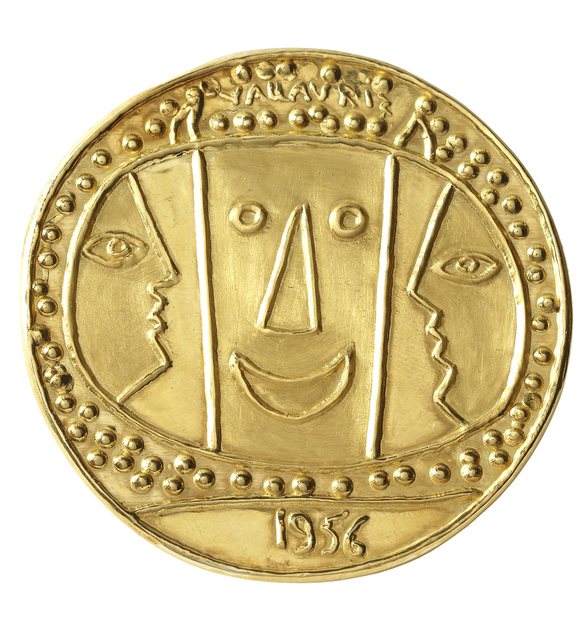 Pablo Picasso, 'Médaillon Vallauris', 1965, Jewelry, 23 carats gold medallion with original wooden box, BAILLY GALLERY