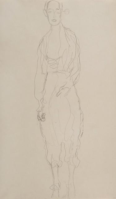Gustav Klimt, 'Portrait d'une femme debout en pantalon', 1916-1918, HELENE BAILLY GALLERY