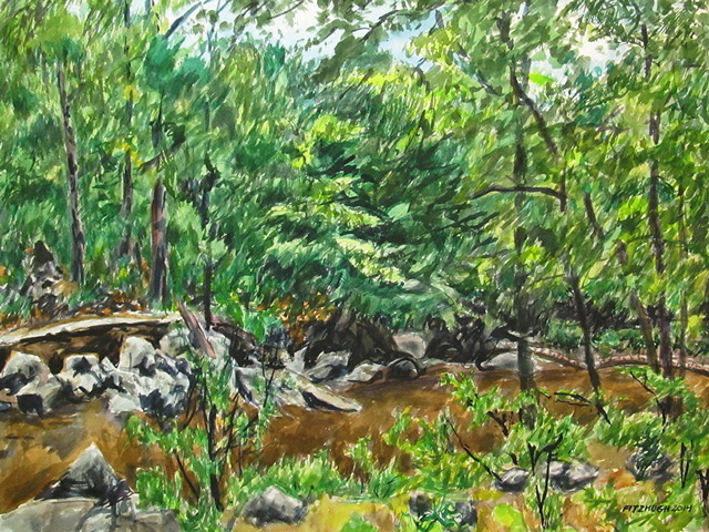 , 'Rocks and Creek in Rock Creek Park,' , Zenith Gallery