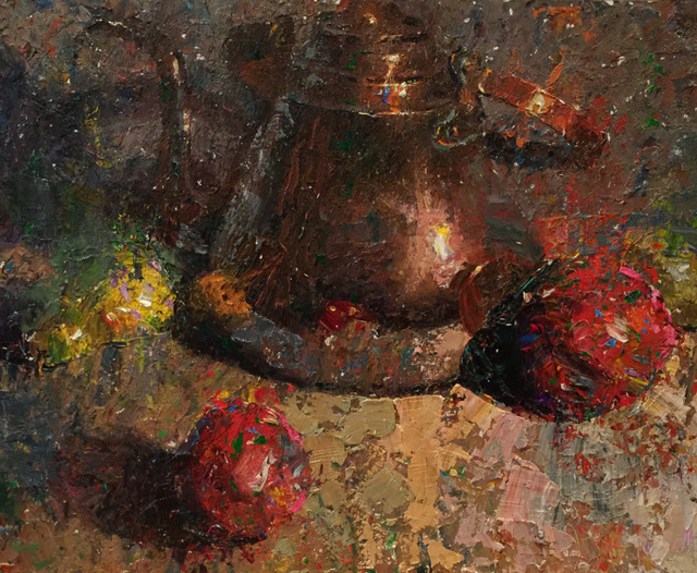 , ' Brass, Yellow Pears and Pomegranates,' 2015, Gallery 1261
