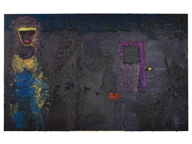 , 'Self Portrait with Purple Door,' 2015, Nicodim Gallery
