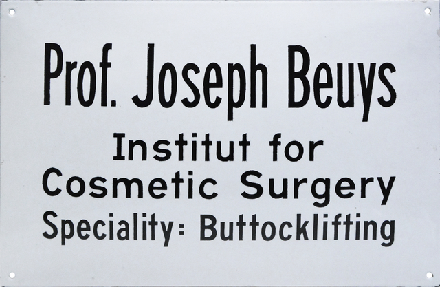 Joseph Beuys, 'Institut for Cosmetic Surgery', 1974, Mixed Media, Metal, Shapero Modern