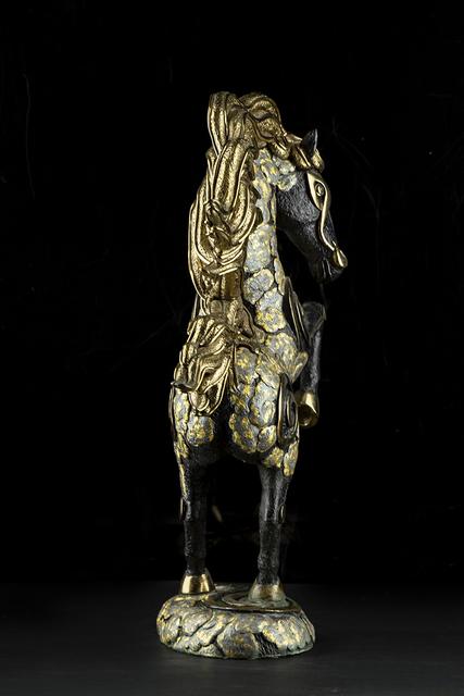 Jiang Tiefeng, 'Golden Bronze Zebra', 1992, Sculpture, Bronze, Modern Artifact