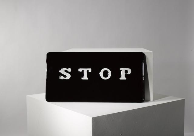 , 'STOP,' 2015, Plinth