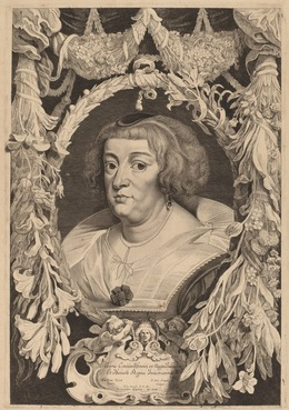 Pieter van Sompel and Attributed to Pieter Claesz Soutman after Sir Anthony van Dyck, 'Marie de Medici', Print, Etching and engraving on laid paper, National Gallery of Art, Washington, D.C.