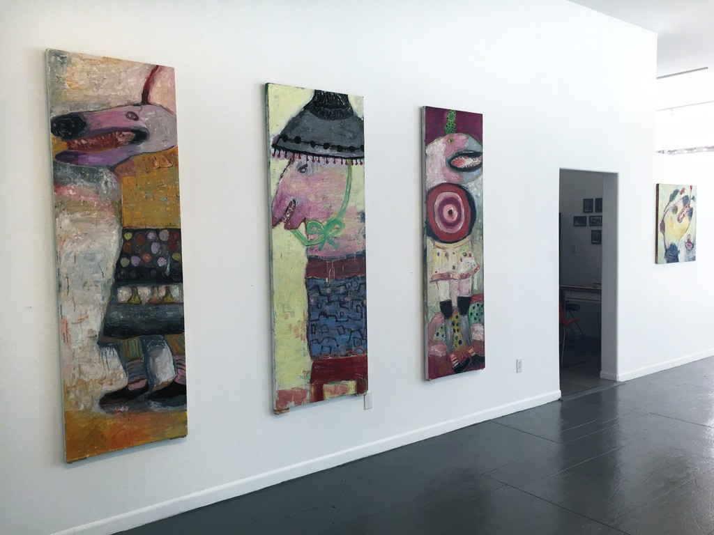 Livia Stein's  large scale  oil paintings at Transmission Gallery.