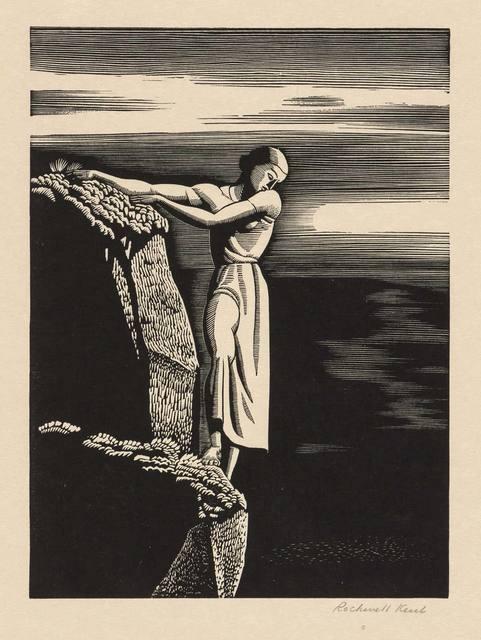 Rockwell Kent, 'GIRL ON A CLIFF (BURNE-JONES 57)', 1930, Doyle