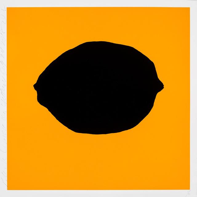 , 'Black Lemon on Yellow,' 2018, Maune Contemporary