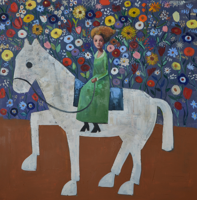 , 'White Horse in the Wild Garden,' , Russell Collection