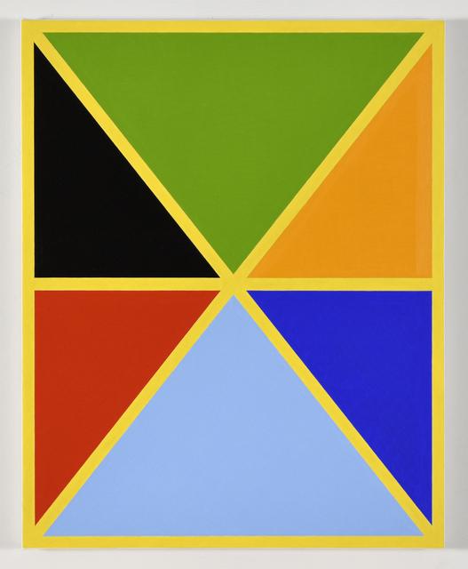 , 'Diagonals (with 7 colors) 1,' 2017, Morgan Lehman Gallery