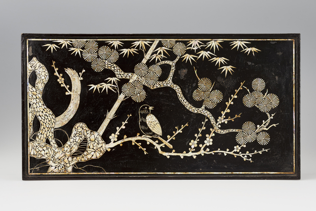 , 'Table with bird and tree motifs,' 1700-1800, Asian Art Museum