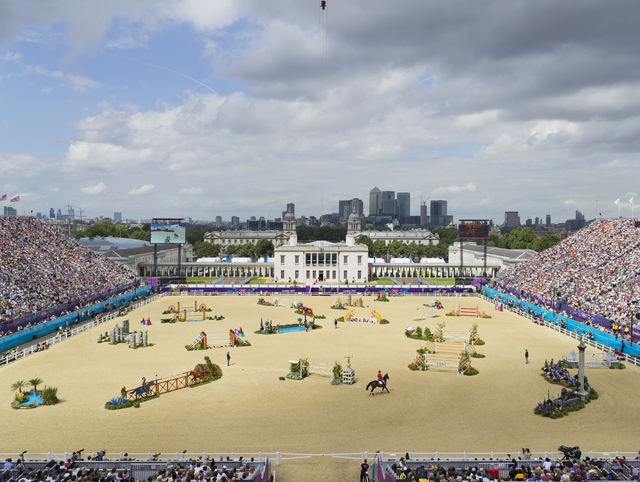 , 'Equestrian Jumping Individual, Greenwich Park, London, 8 August,' 2012, Flowers