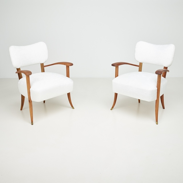 ", 'Pair of armchairs  from ""Casa Caliceti"" Bologna ,' 1949, Paradisoterrestre"
