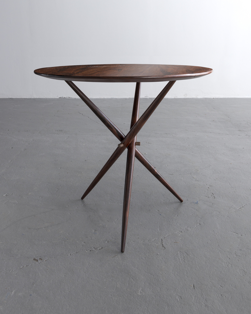 , 'Janete side table in wood with polished brass detailing. Designed by Sergio Rodrigues, Brazil, 1956.,' 1956, R & Company