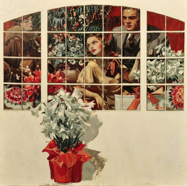 Elbert McGran Jackson, 'Couple in Flower Shop', 1938, The Illustrated Gallery
