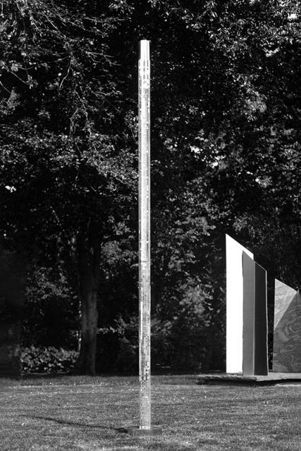Heinz Mack, 'Untitled', 2019, Sculpture, Wood, plastic, mirror mosaic, stainless steel (Stainless steel plinth: 8 cm x ⌀ 69 cm), A3 Arndt Art Agency