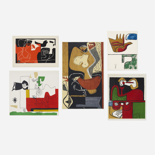 Le Corbusier, 'collection of five works', 1940-1963, Rago/Wright