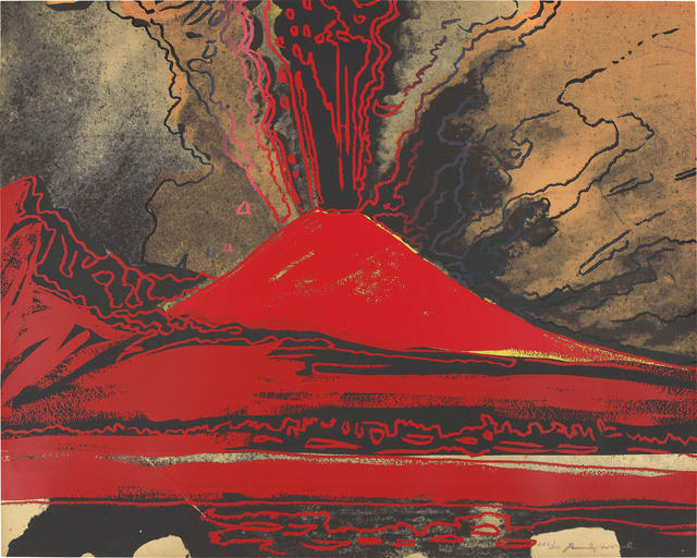 Andy Warhol, 'Vesuvius', 1985, Print, Screenprint in colours, on Arches 88 paper, the full sheet, Phillips