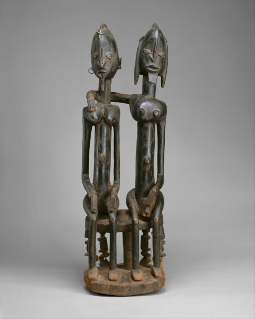 Unknown Dogon, 'Figure: Seated Couple', 18th–early 19th century, The Metropolitan Museum of Art