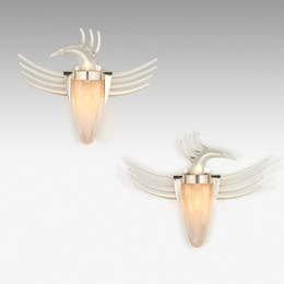 Pair of Bird Sconces from the Waterford series, Ireland