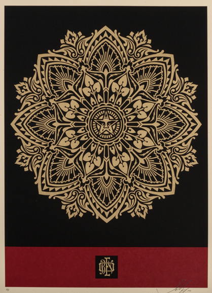Shepard Fairey (OBEY), 'Mandala Ornament (red/gold)', 2010, Rudolf Budja Gallery
