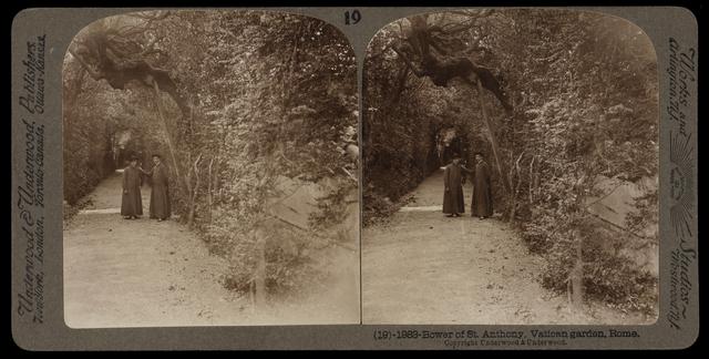 Bert Underwood, 'Bower of St. Anthony, Vatican garden', 1900, Getty Research Institute