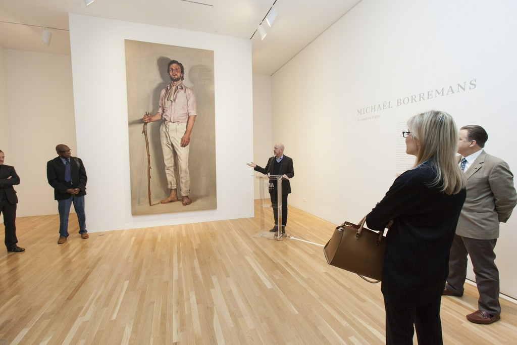 "Installation view of ""Michaël Borremans: As sweet as it gets."" Courtesy of Dallas Museum of Art, Dallas (2015)"
