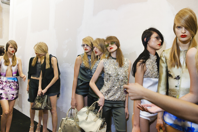 , 'Models backstage at Prada's spring show, Milan,' 2009, Fahey/Klein Gallery