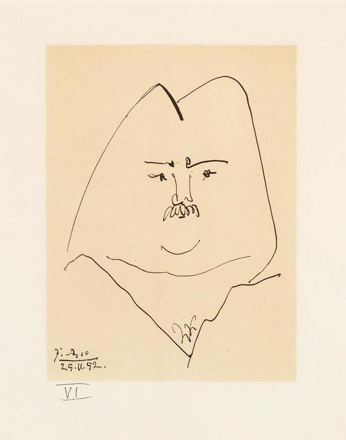 Pablo Picasso, 'Balzac en Bas Casse et Picassos sans majuscule (eight works)', 1957, Print, Lithographs, Hindman