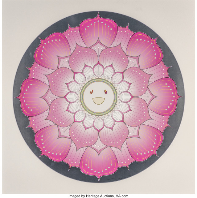 Takashi Murakami, 'Lotus Flower (Pink and White) (two works)', 2010, Heritage Auctions